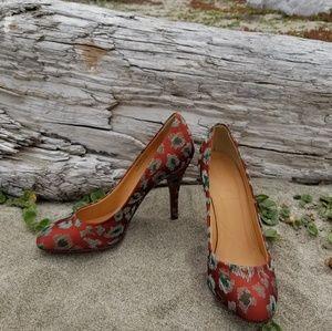 J. Crew Fabric Stiletto Heels